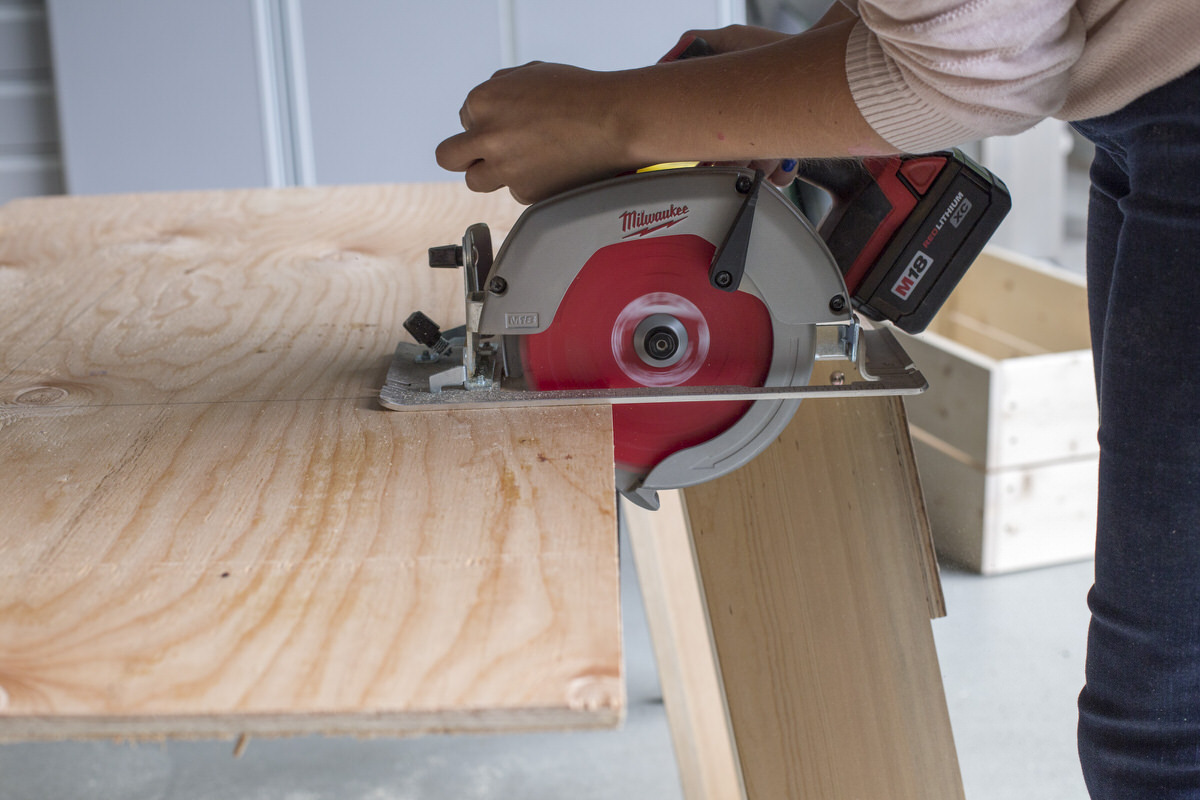 using circular saw