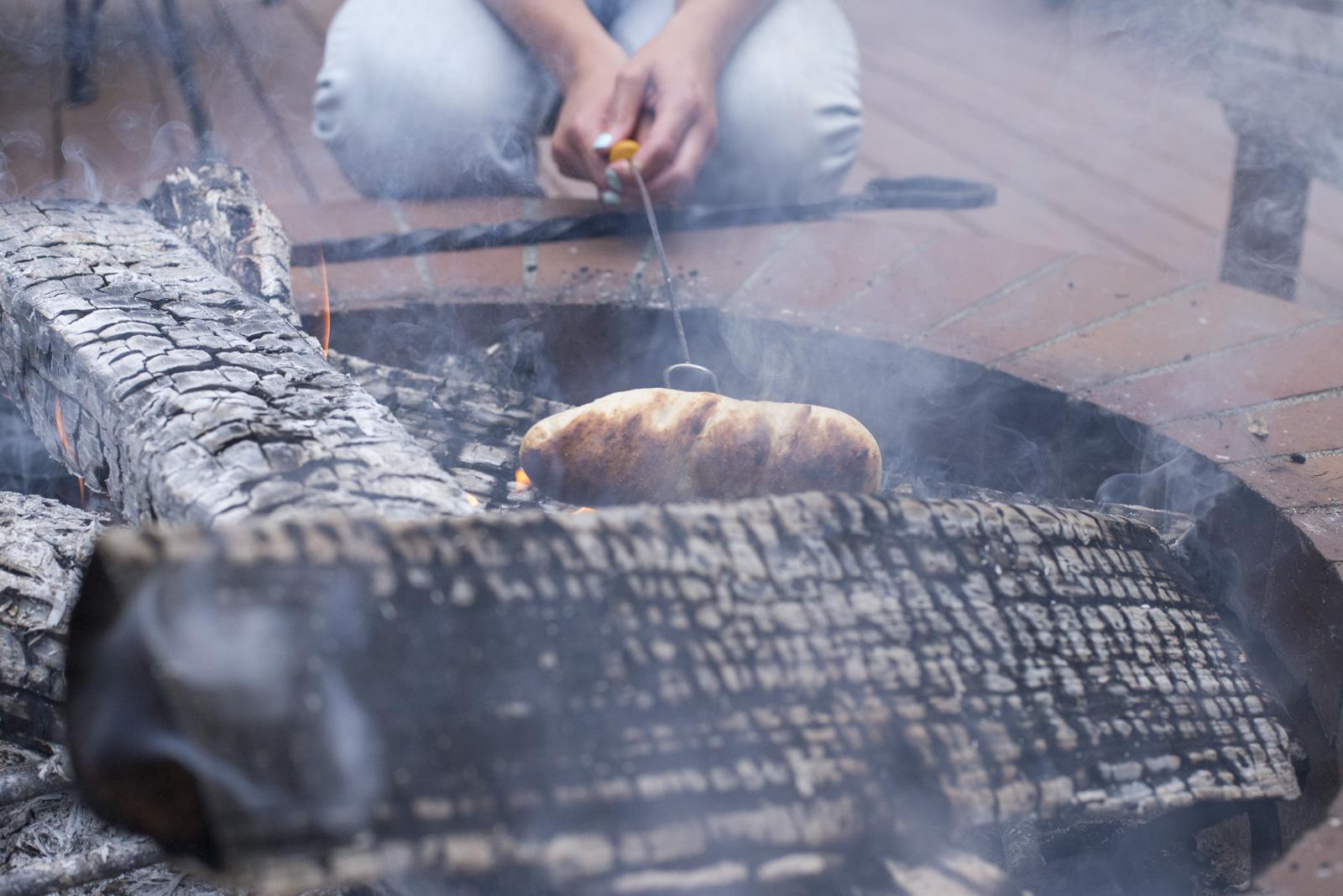 hotdog in fire