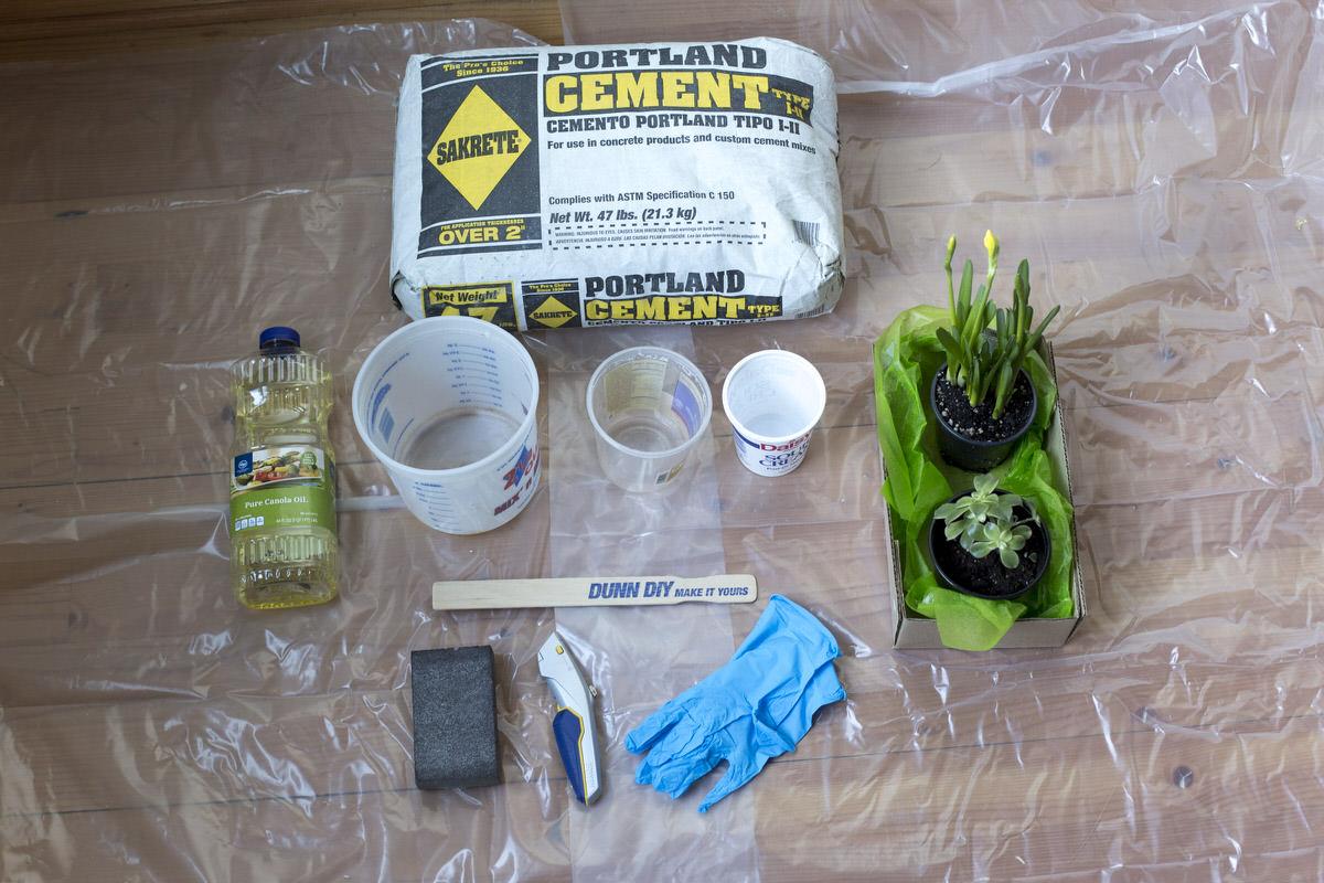 Cement Planter Materials