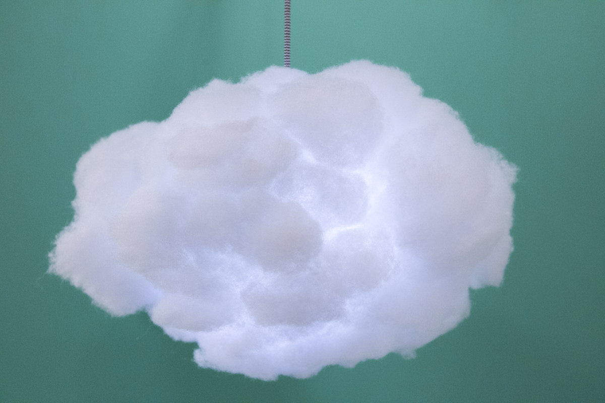 interactive led cloud lamp