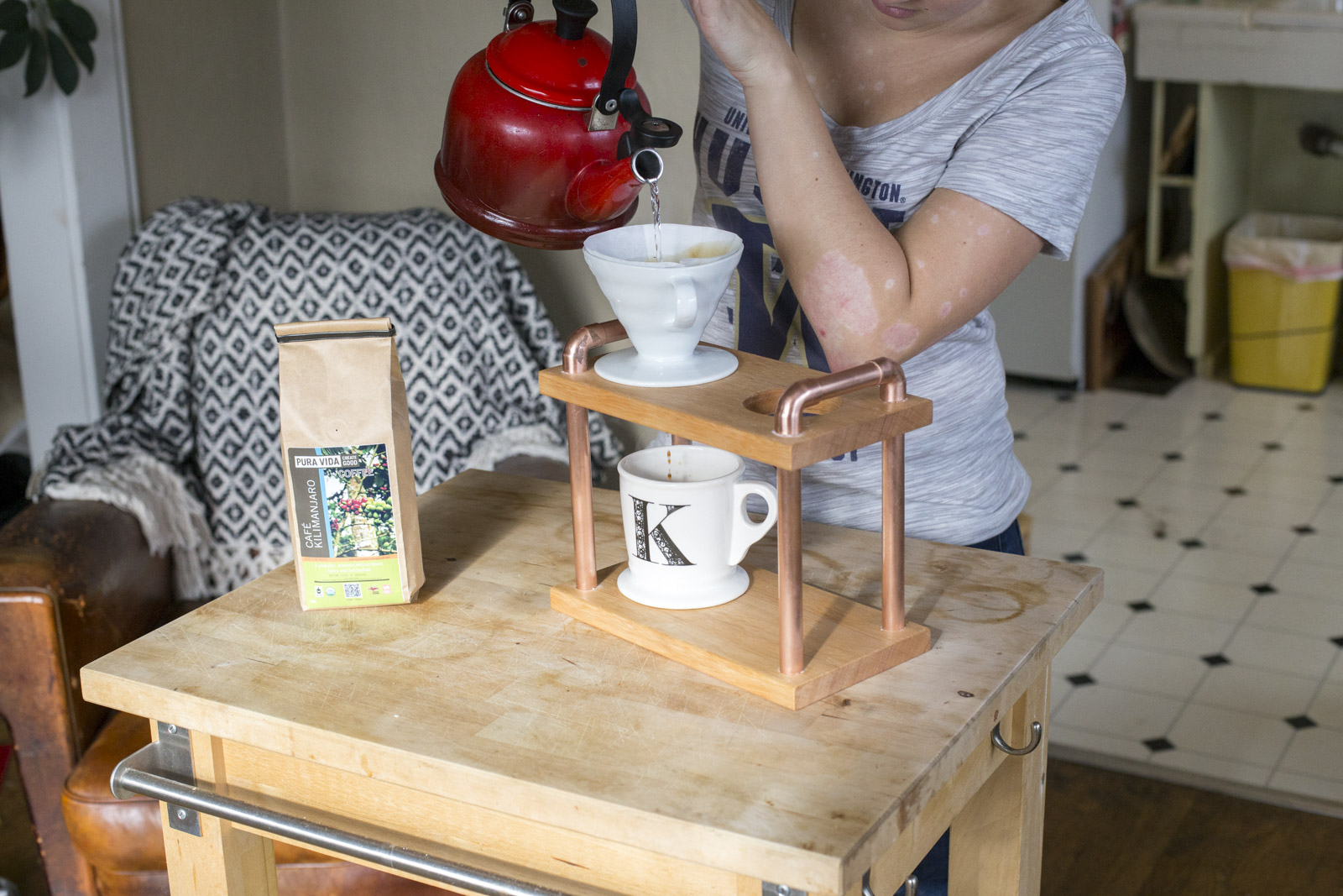 diy pour over coffee stand