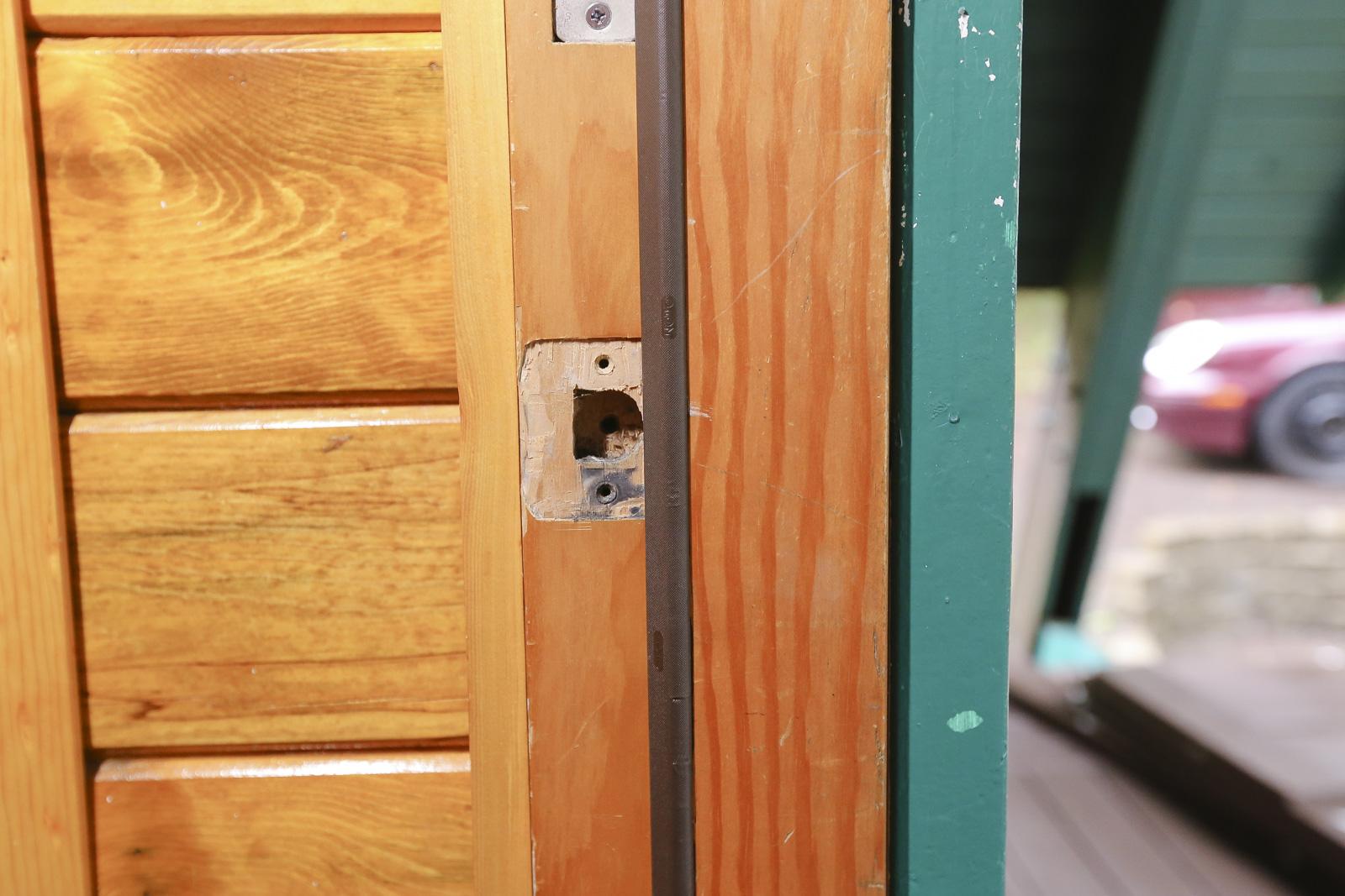 door strike plate removal