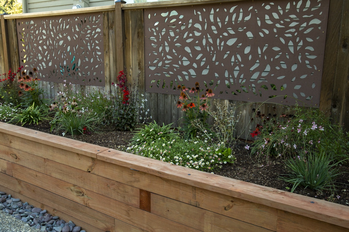 build a framed panel fence at Seattle garden show