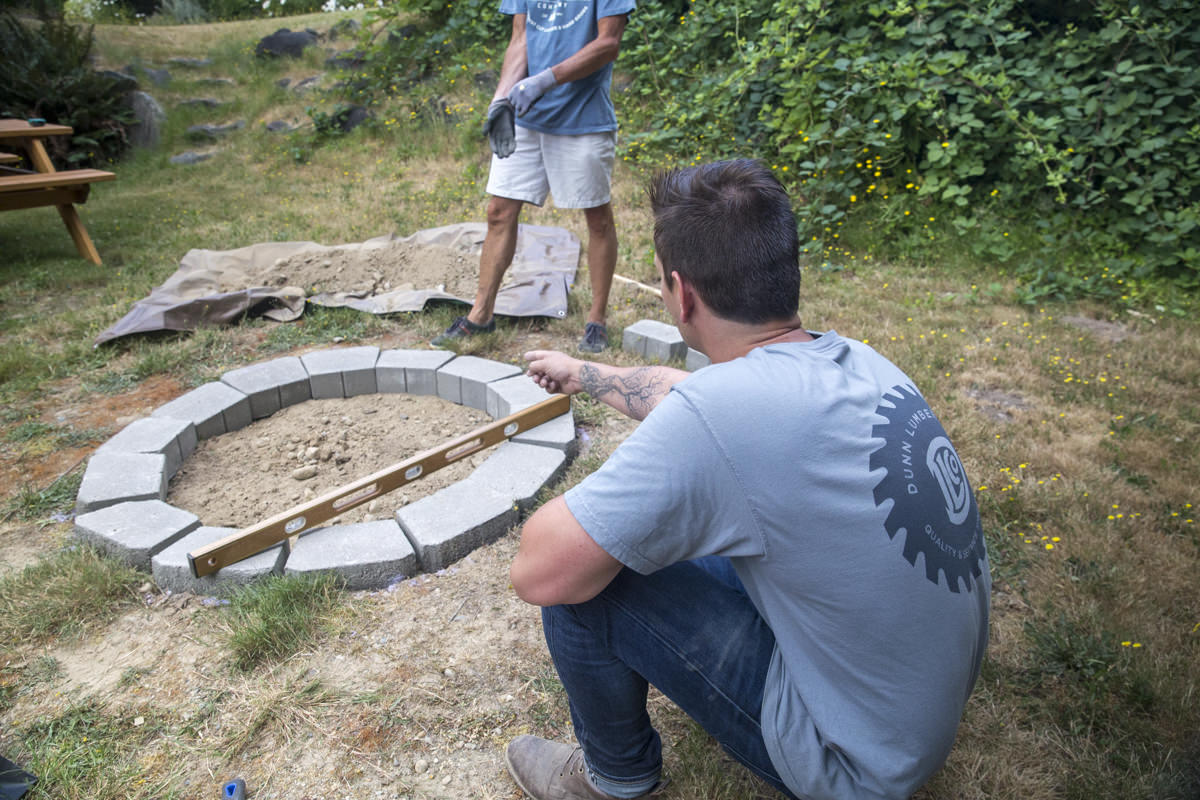 leveling fire pit