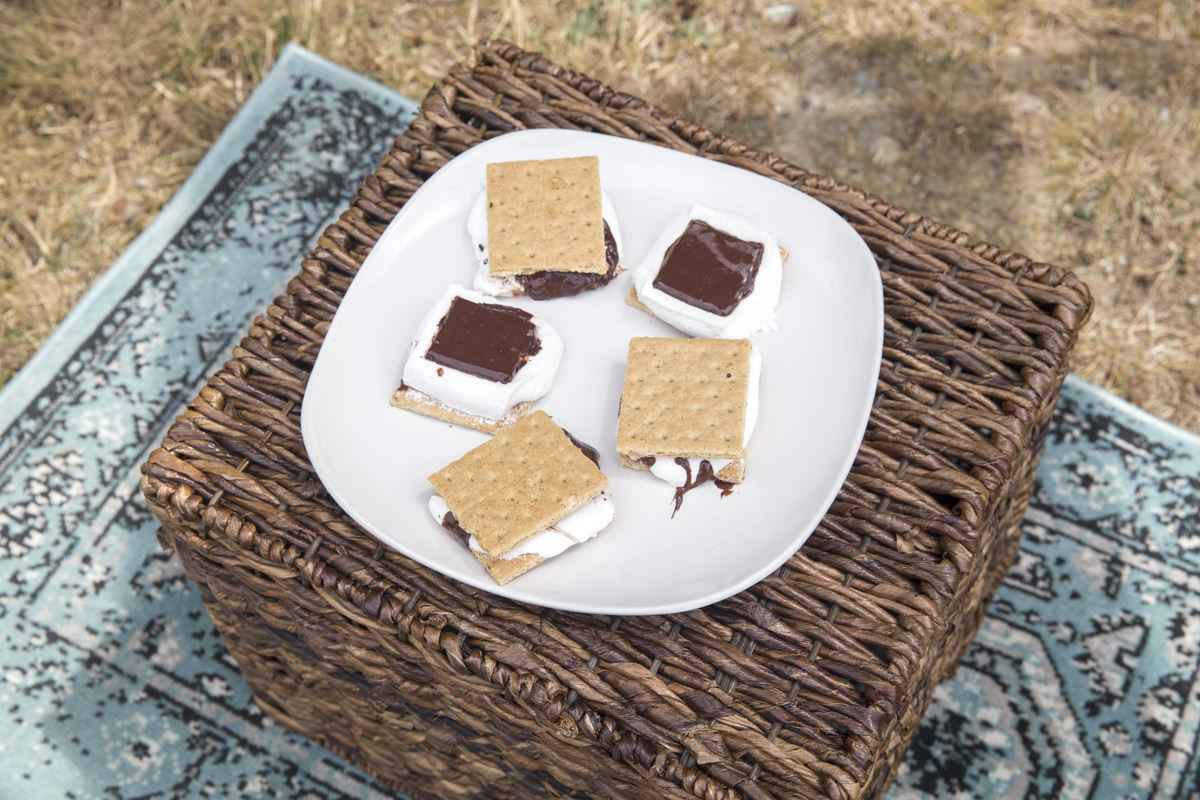 smores for backyard picnic