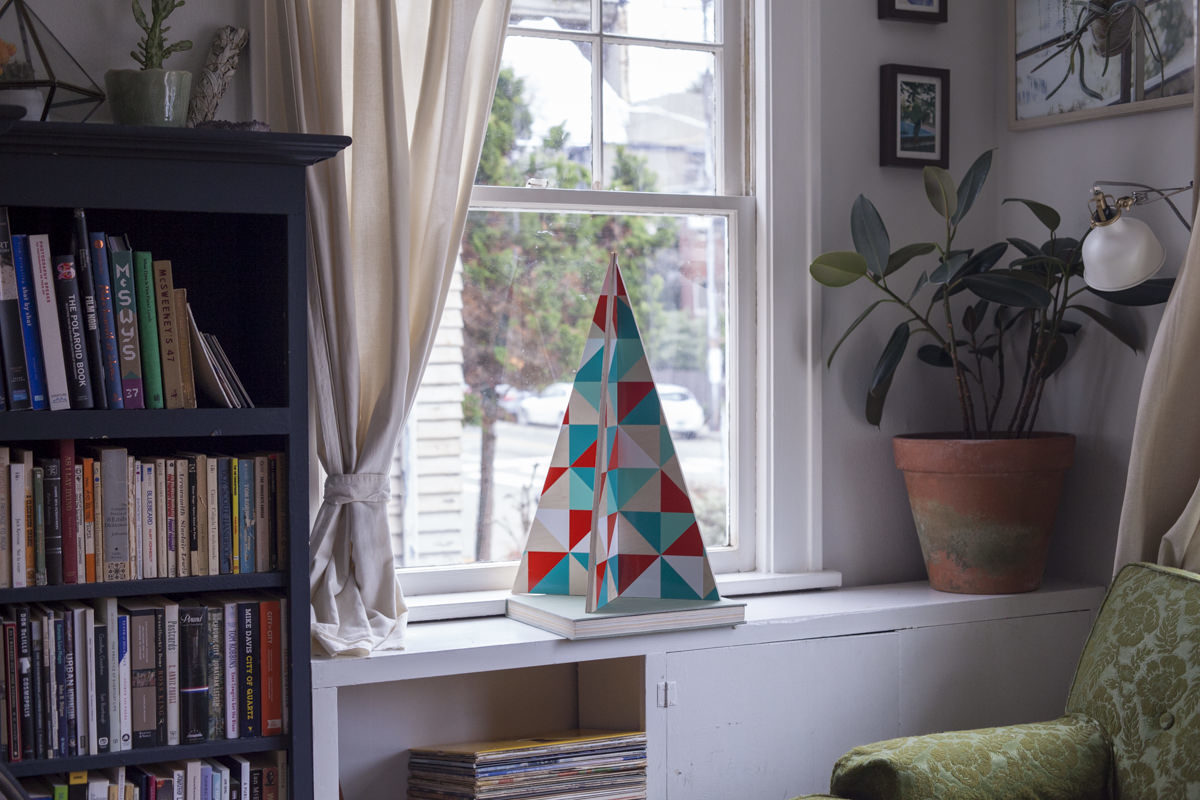 how to make a geometric christmas tree