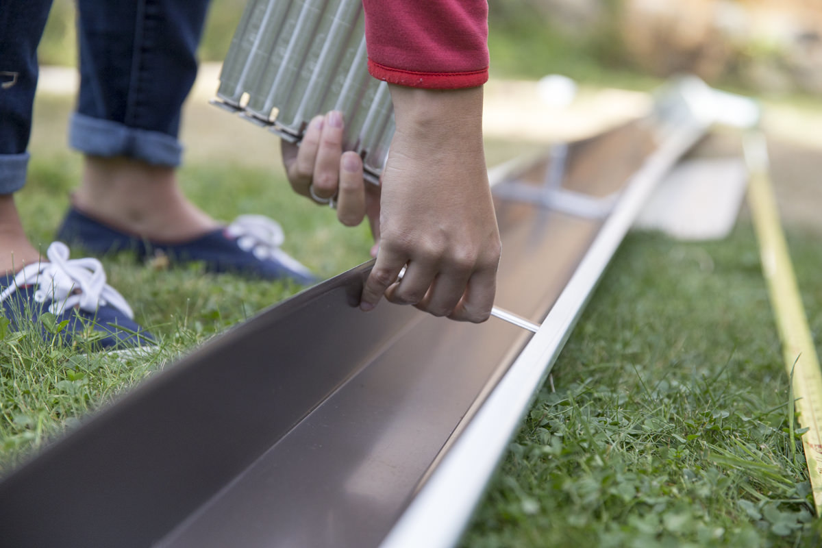 Dunn DIY How to Install a Gutter for a Patio Dry Space Seattle WA 5