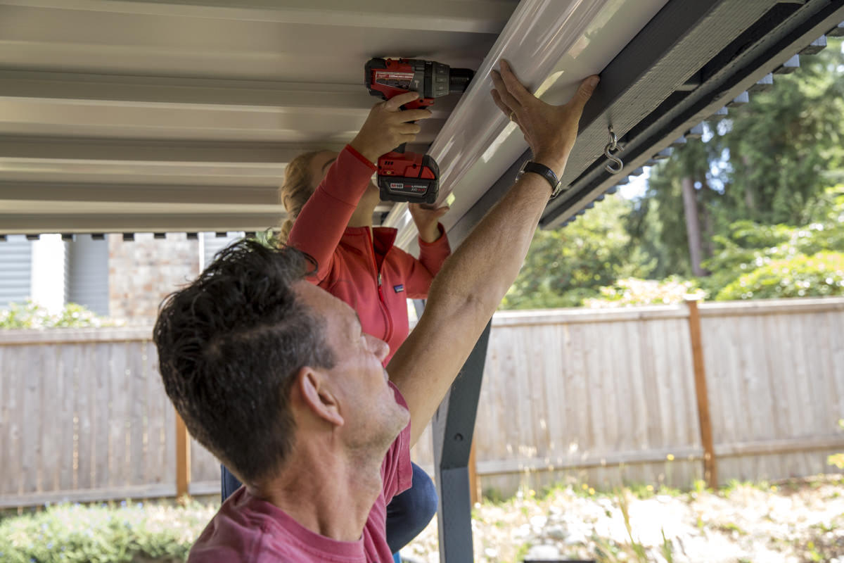 Dunn DIY How to Install a Gutter for a Patio Dry Space Seattle WA 10