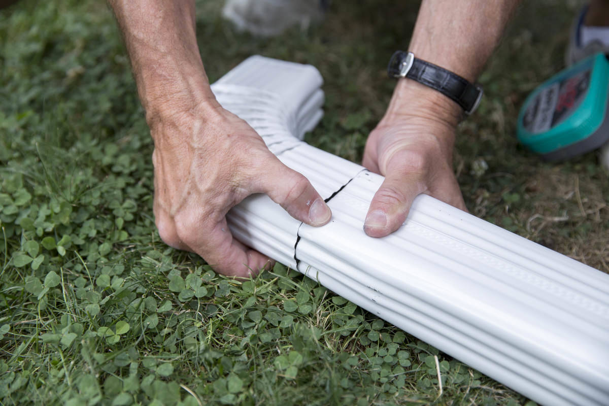 Dunn DIY How to Install a Gutter for a Patio Dry Space Seattle WA 14