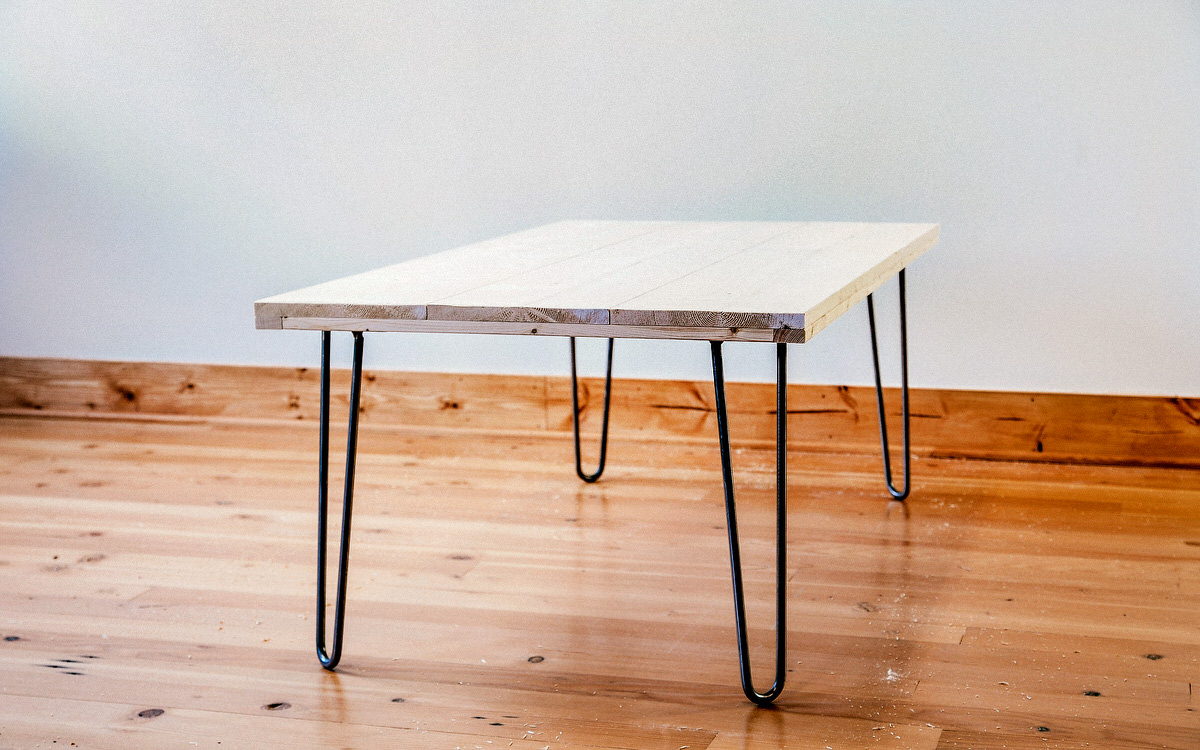 diy hairpin leg coffee table - home improvement projects to