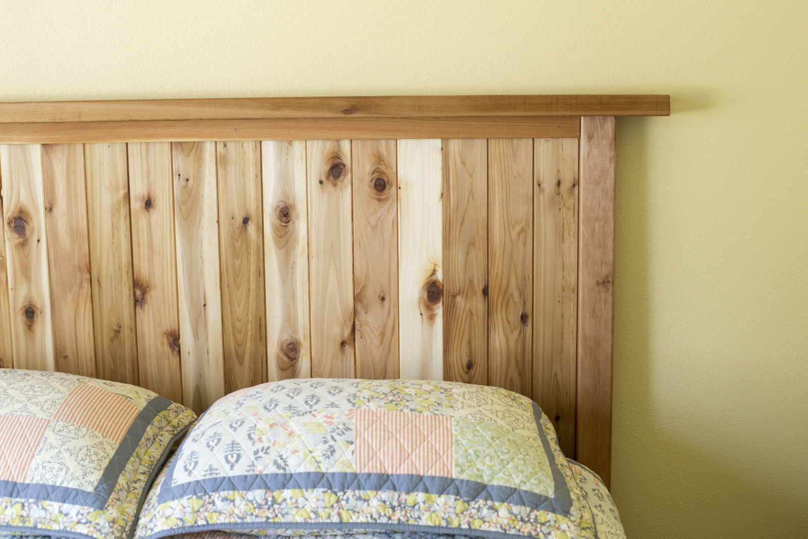 how to make a cedar headboard