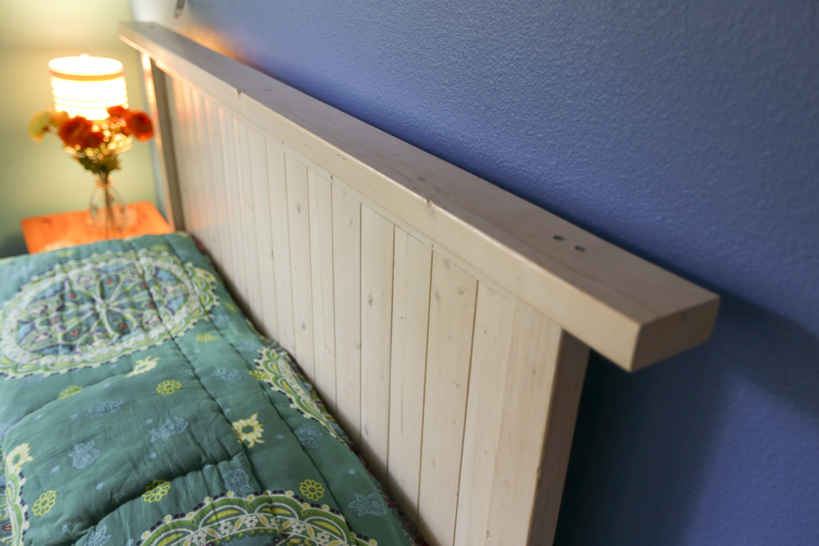 How to build a simple diy headboard diy bedroom projects - How to make a bed headboard ...