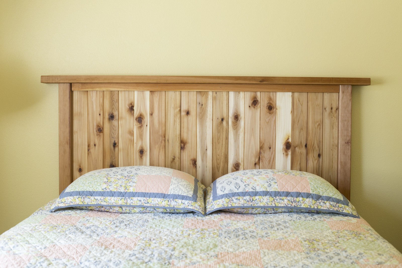 cedar headboard ideas