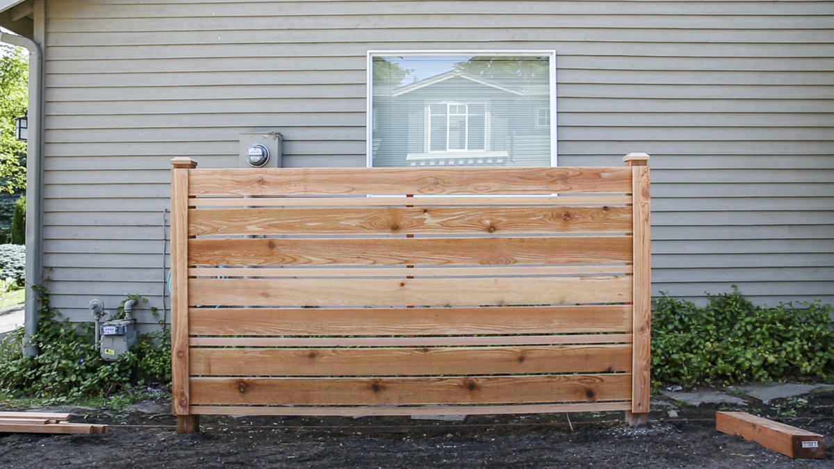 build a DIY horizontal fence at Seattle garden show