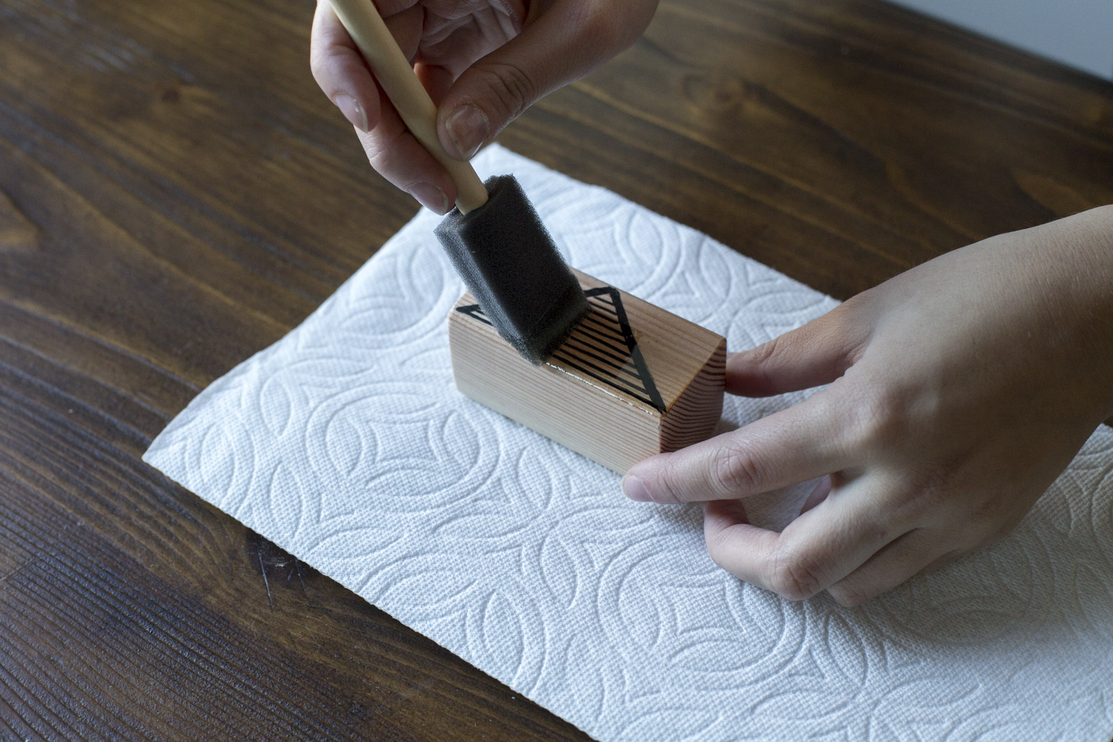 stain for wood blocks