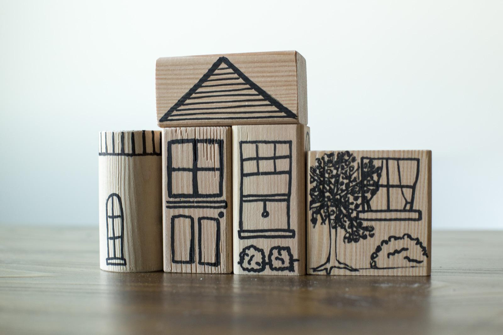 wood blocks for kids diy