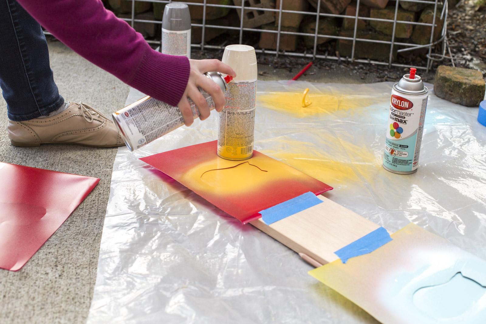 spray paint your coat rack