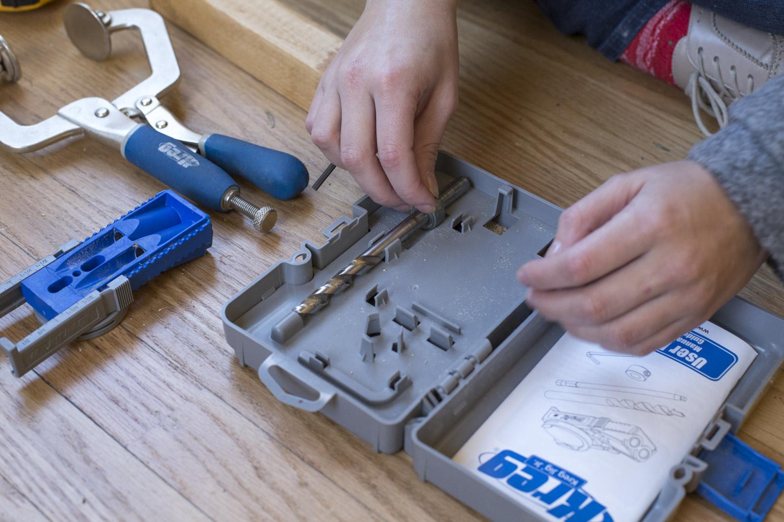 adjust drill bit for kreg jig