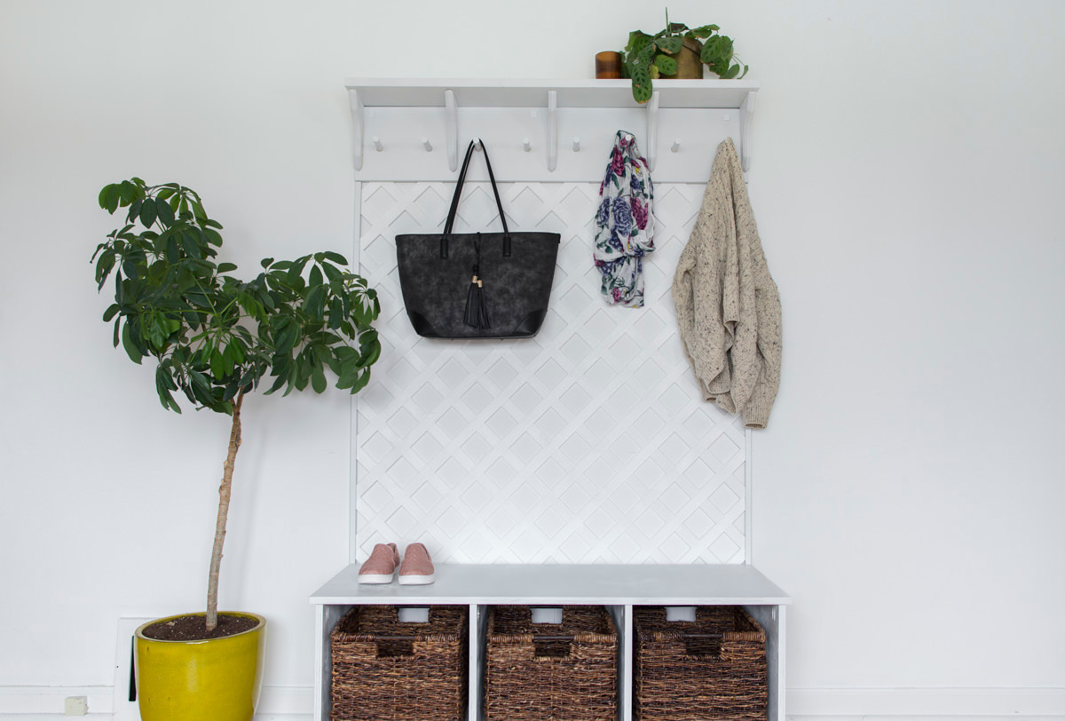 Dunn DIY How to Make a Lattice Coat Rack for your Entryway Seattle WA 27