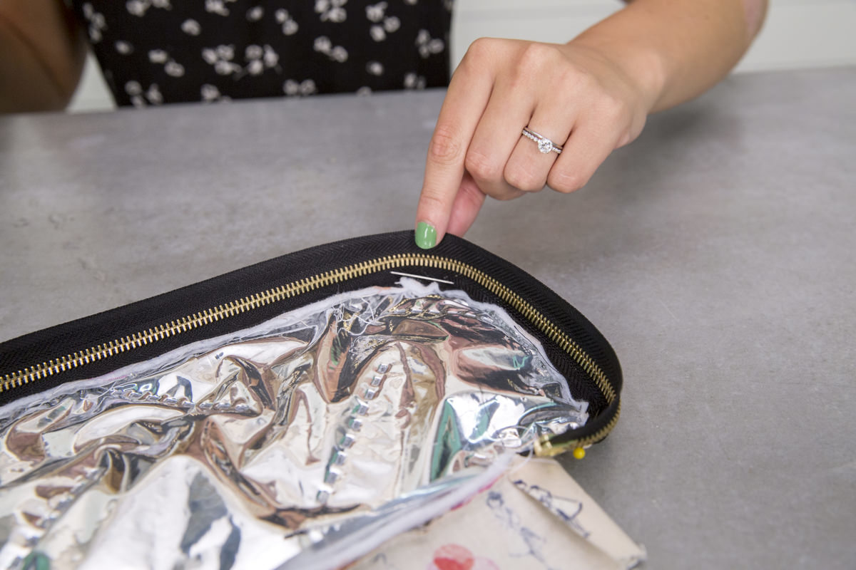 zipper in insulated diy lunch box