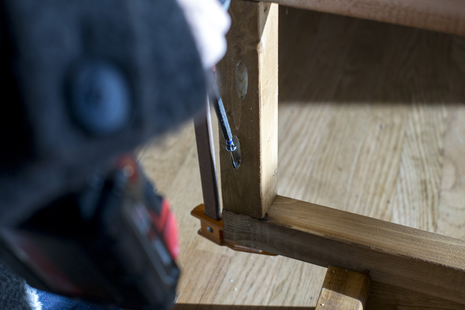 attach wood using pocket hole