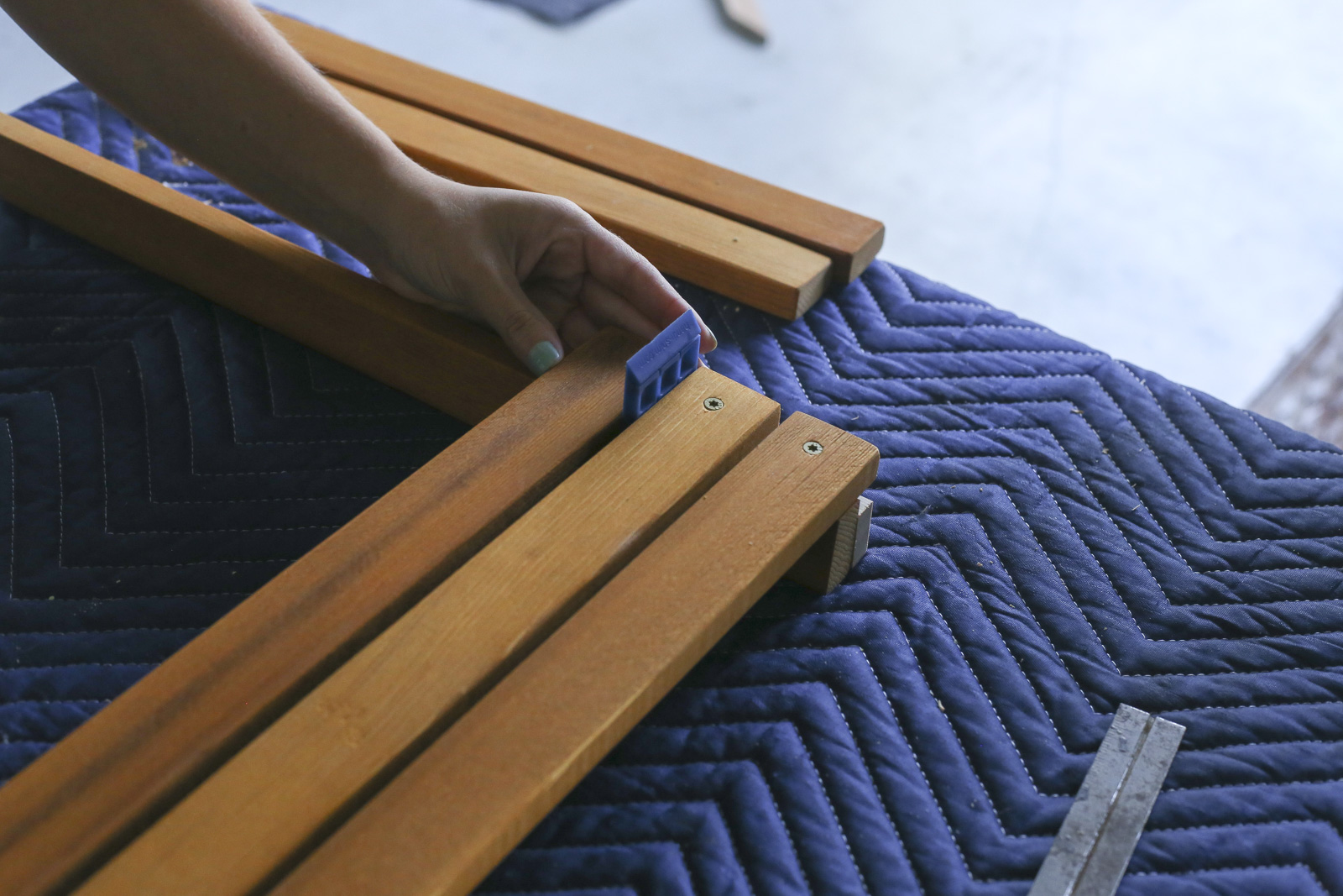 making nesting chair seat