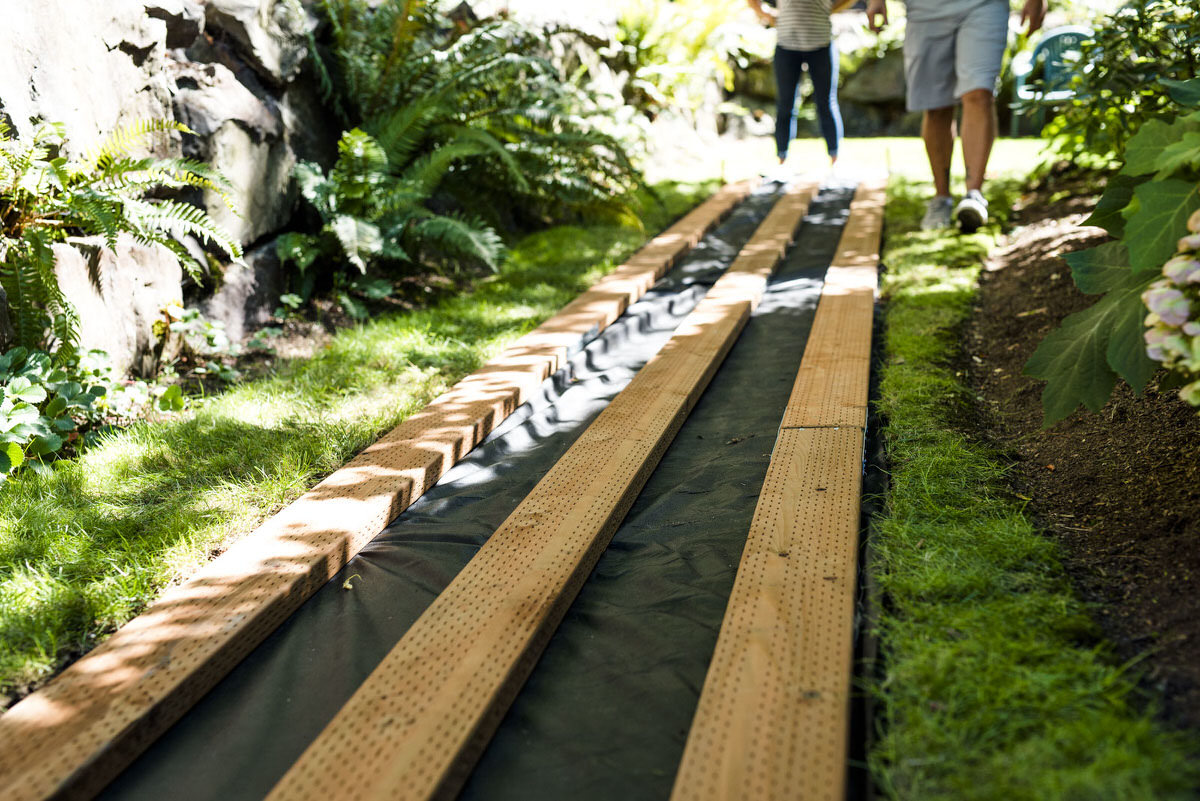 building a wooden boardwalk