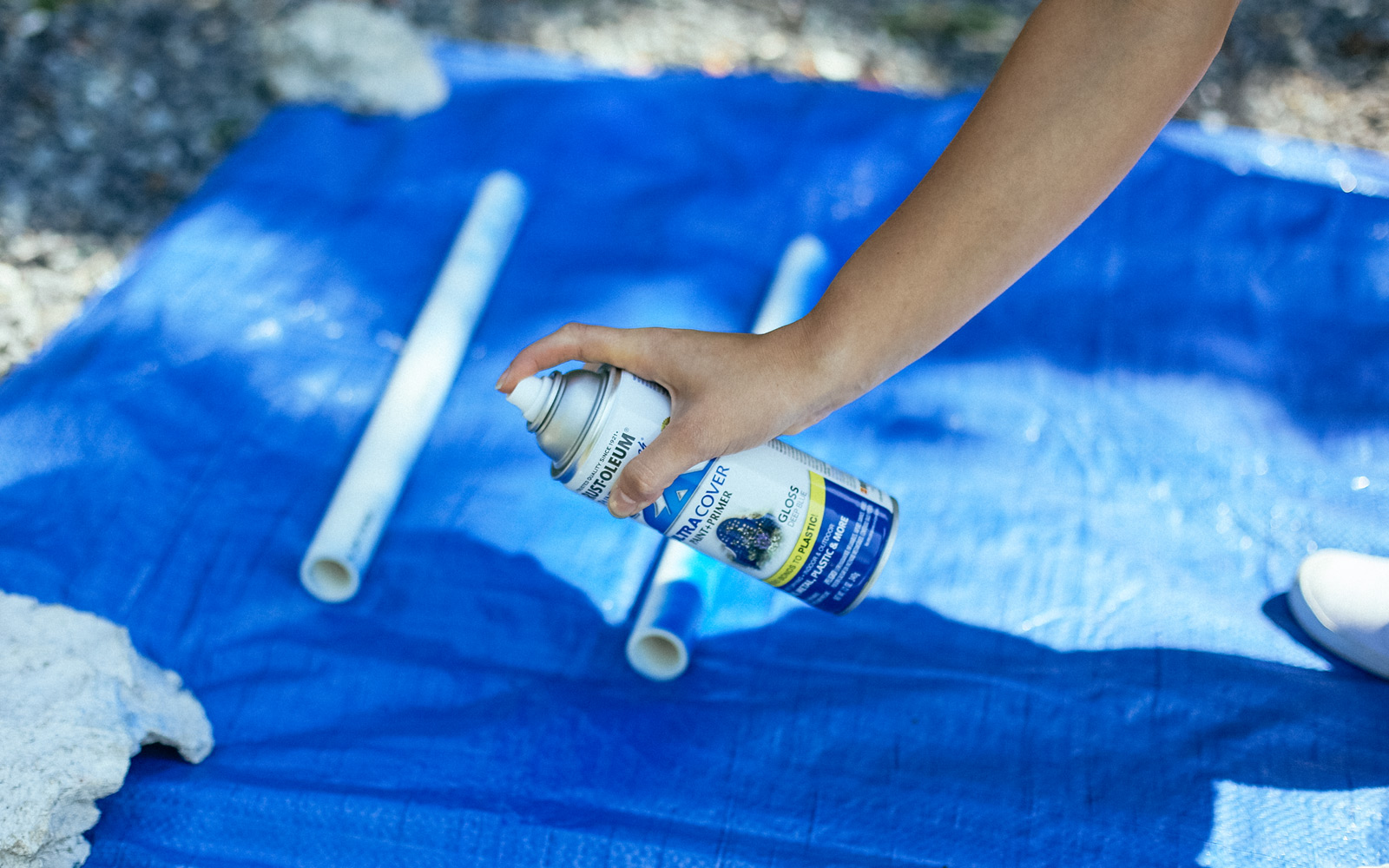 painting pvc for ladder golf