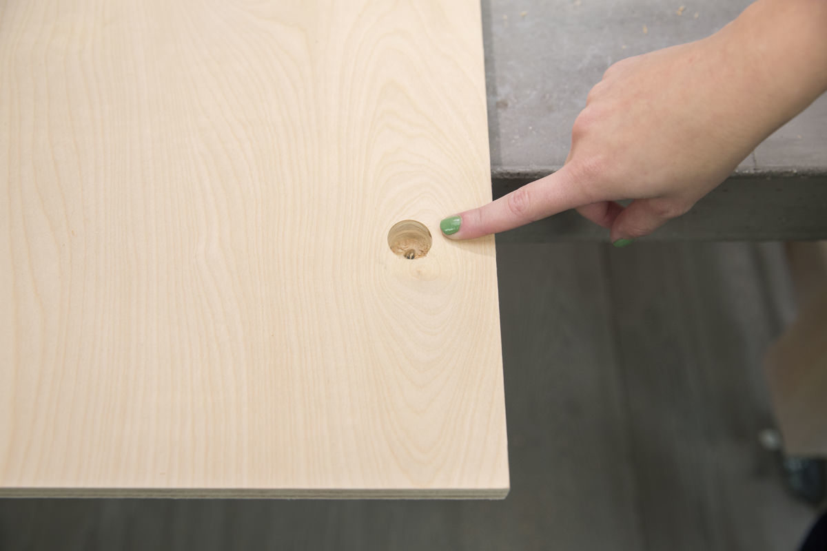 hole for peg in storage pegboard