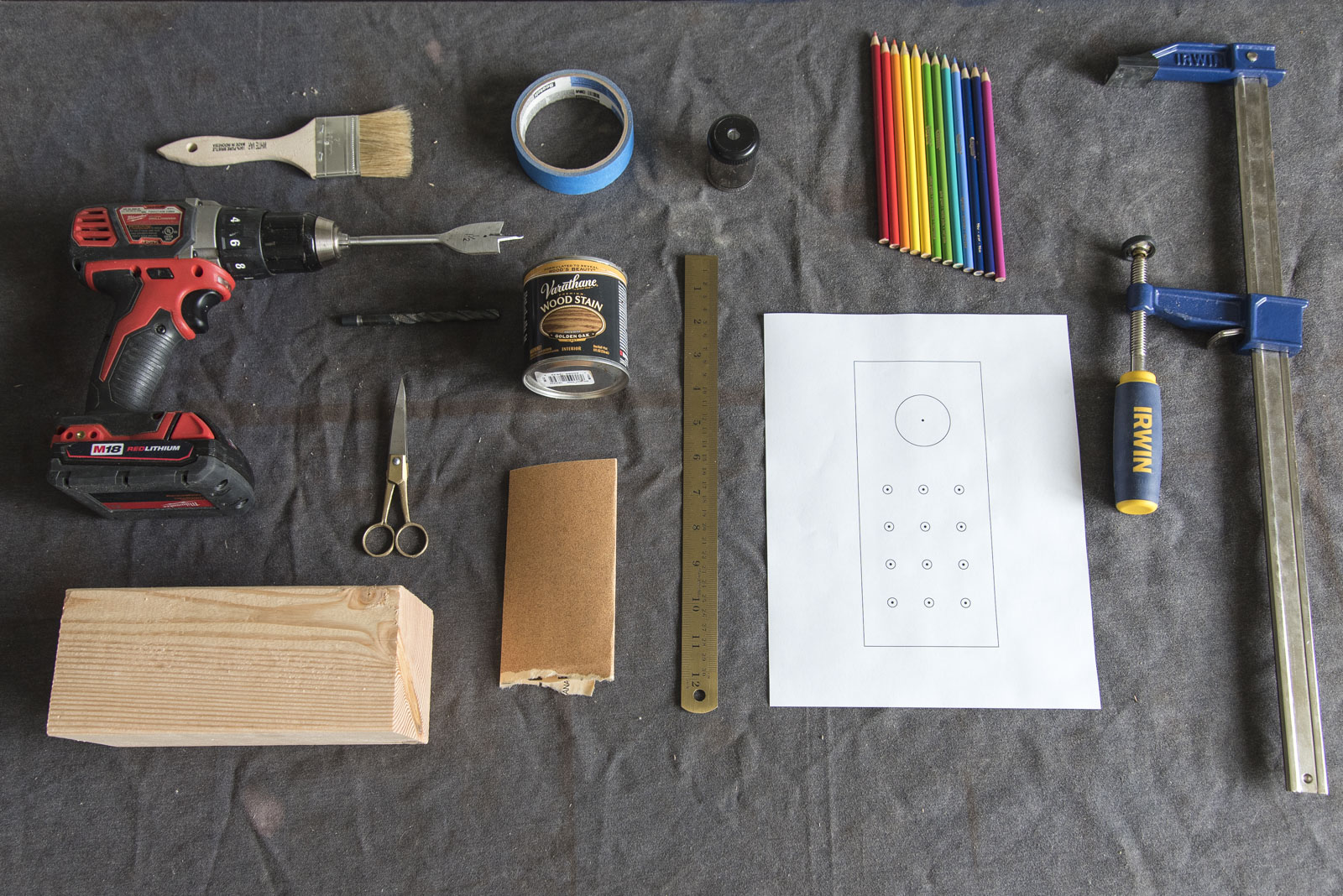 materials for a diy pencil holder