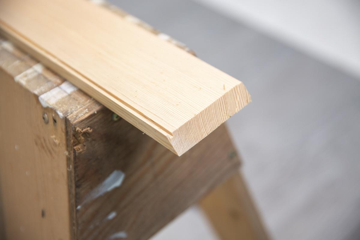 wood end cut at angle