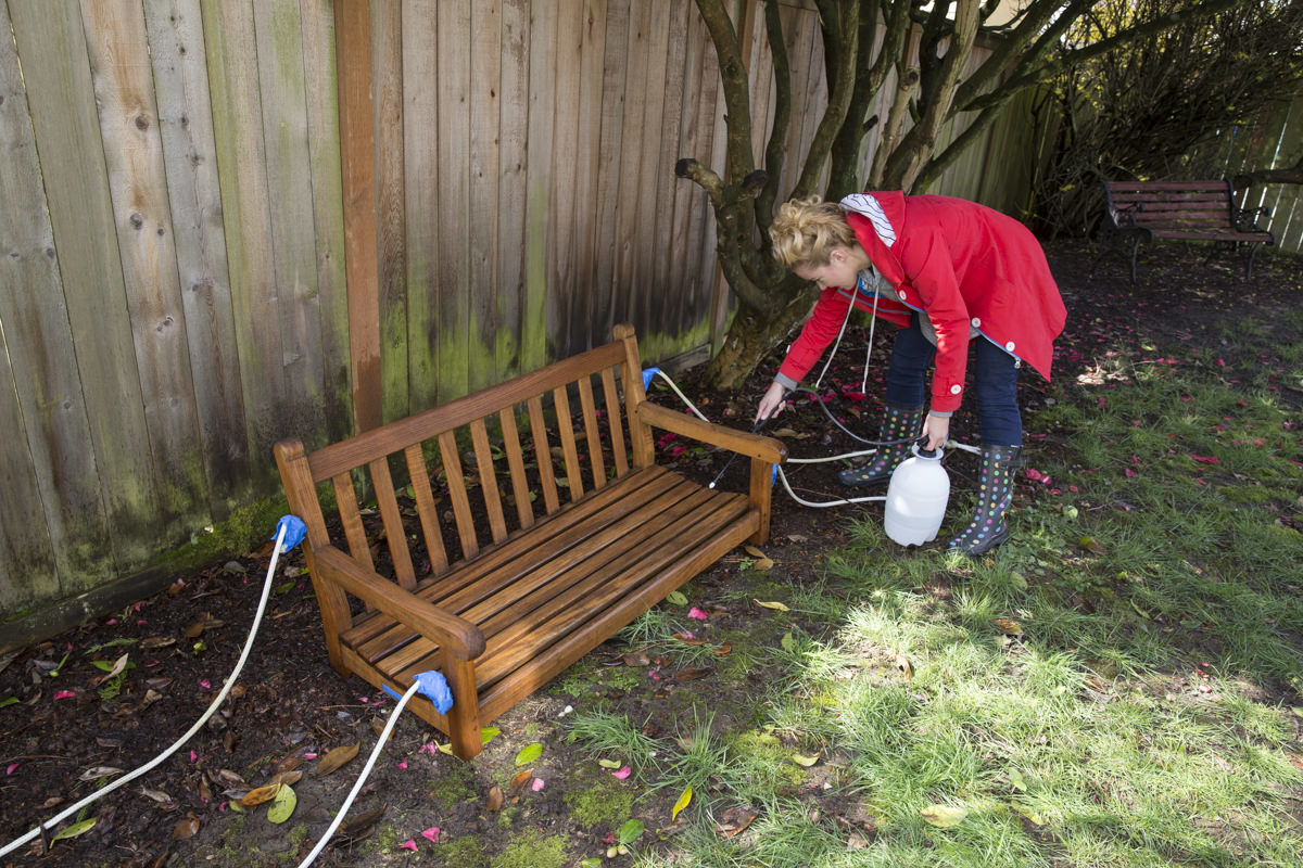 Dunn DIY How to Refresh a Porch Swing with Teak Oil Seattle WA 19