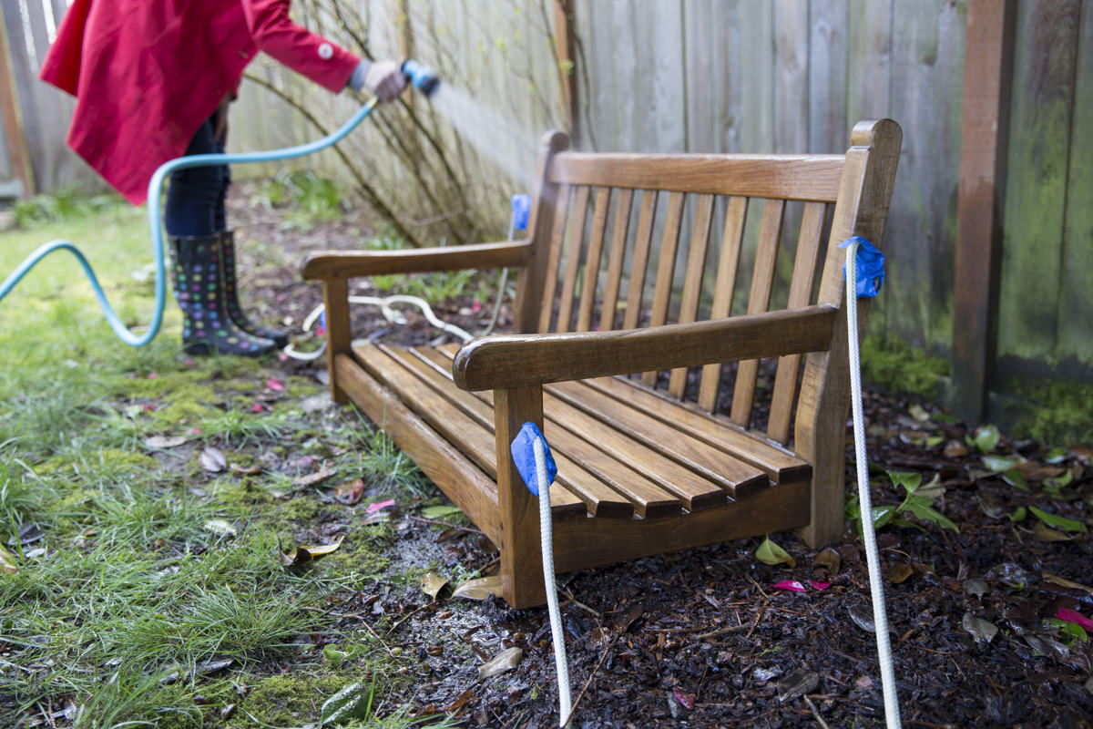 Dunn DIY How to Refresh a Porch Swing with Teak Oil Seattle WA 20