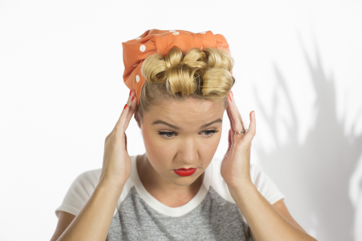 Dunn DIY How to Make Pin Curls Like Rosie the Riveter Seattle WA 24