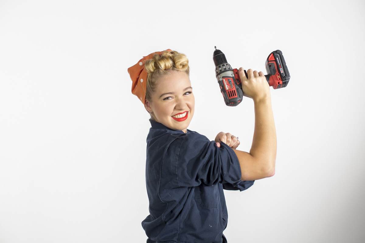 Dunn DIY How to Make Pin Curls Like Rosie the Riveter Seattle WA 25