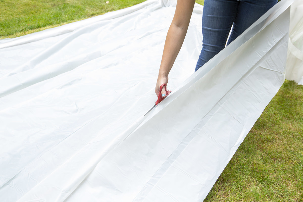 cutting sheet for diy slip and slide