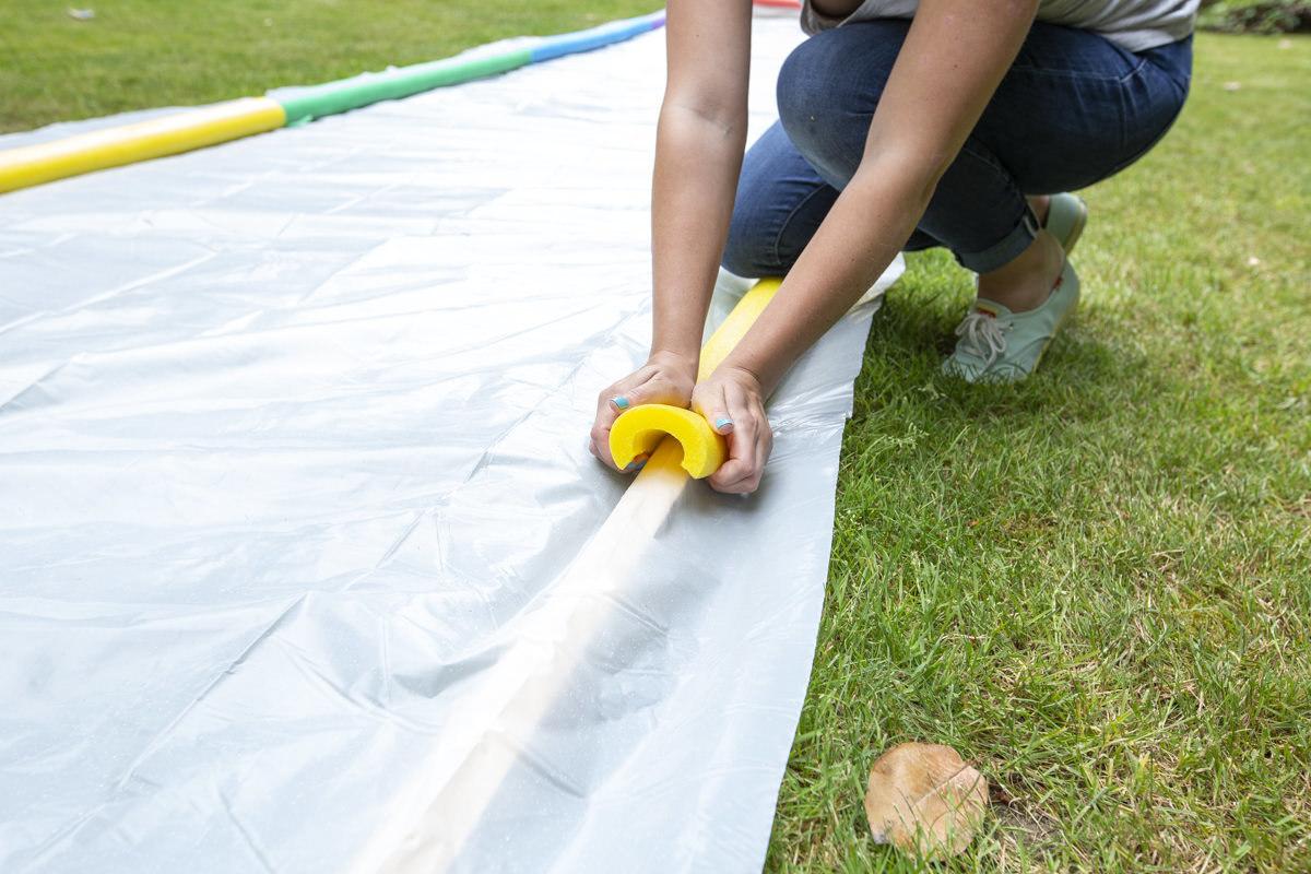 pool noodles for slip and slide barrier