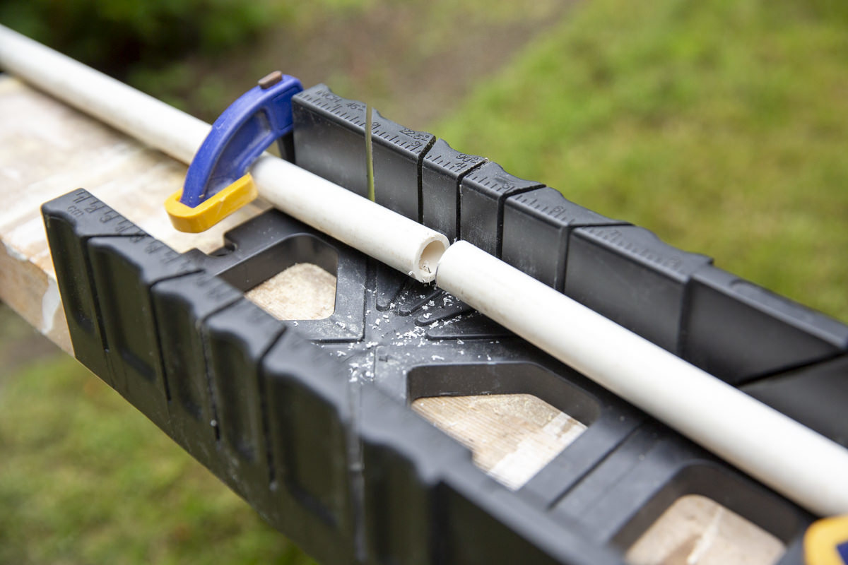 pvc pipe with cut