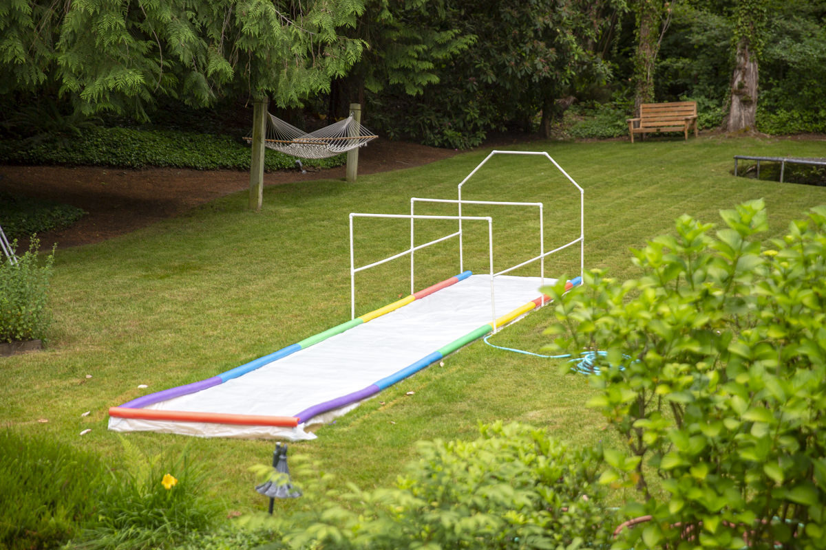 DIY slip and slide project for kids