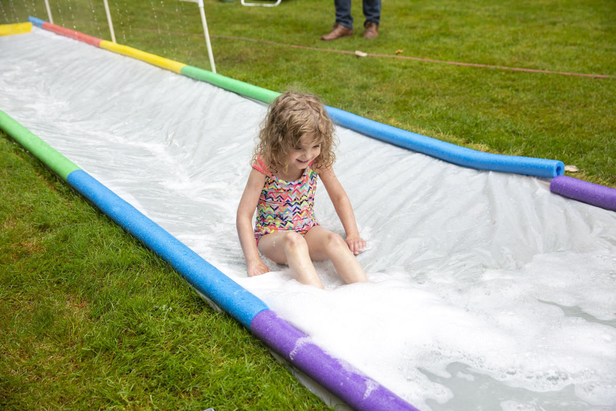 make a slip and slide at Seattle garden show