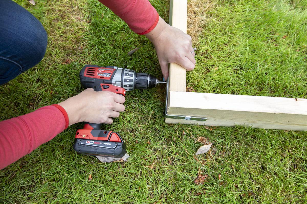 assembling wood slip and slide frame