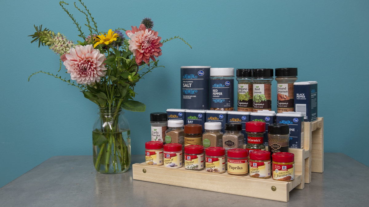 how to make a diy spice rack