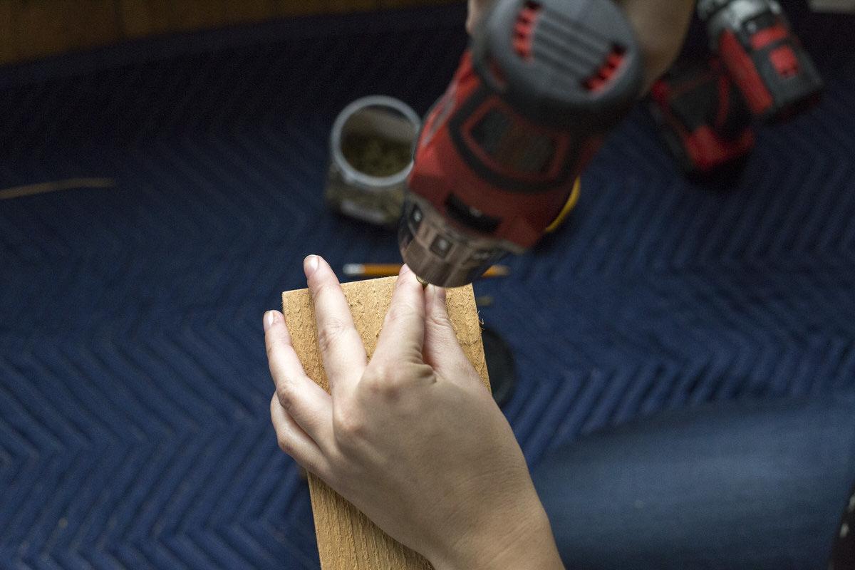 pre drill wood