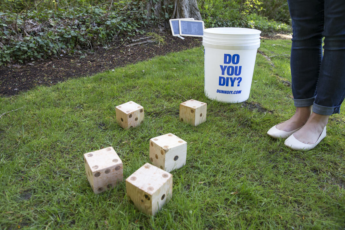Dunn DIY How to Build a Life-size Yard Yahtzee Game Seattle WA 10