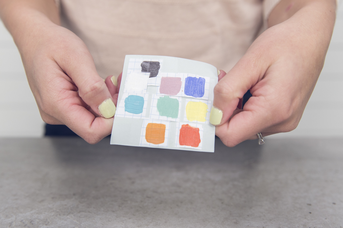 paint swatches for wooden baby gym