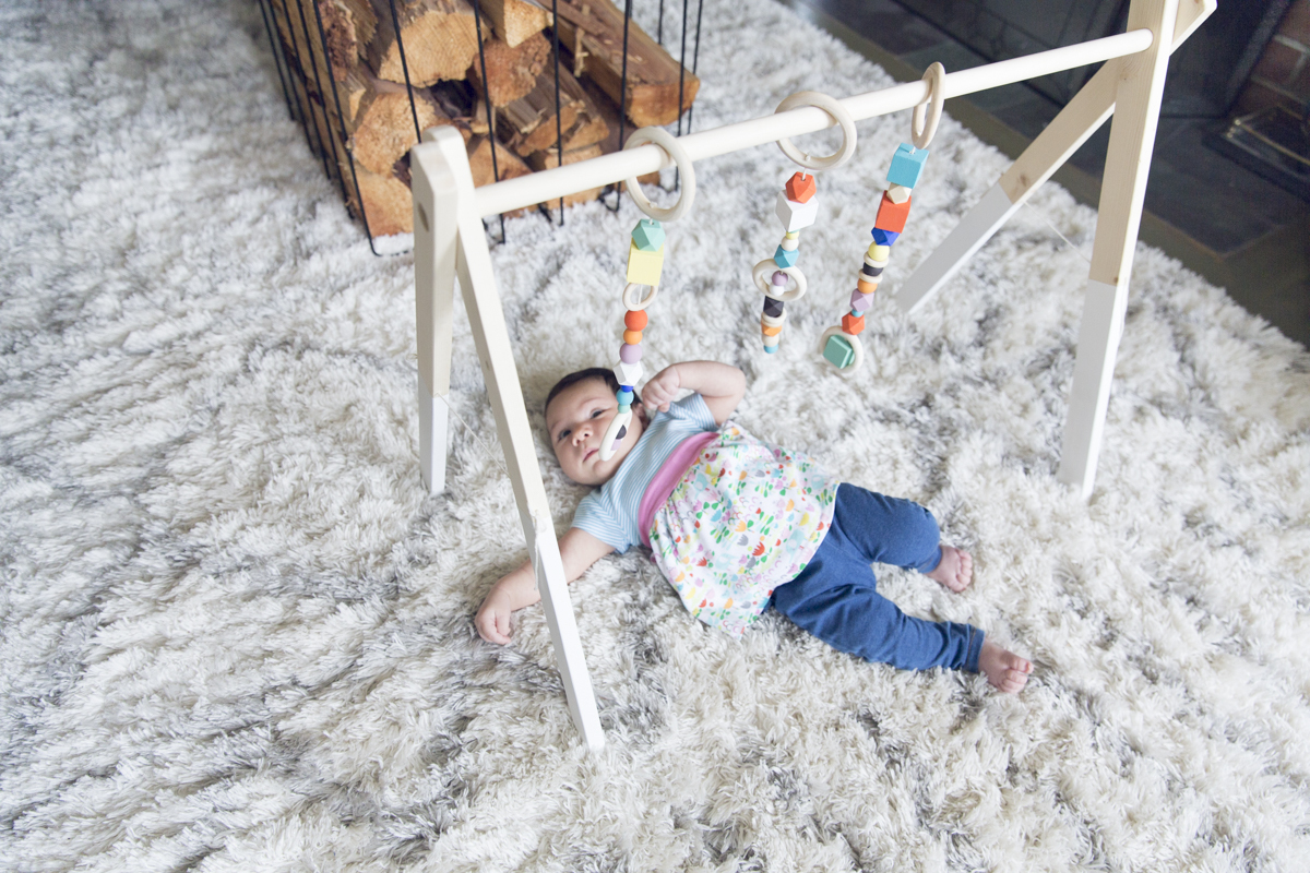 how to make a wooden baby gym