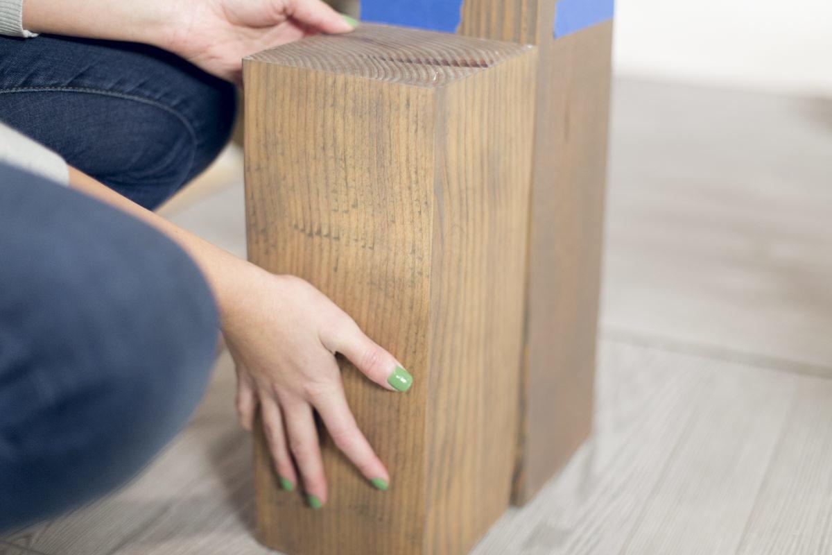 measuring wood posts