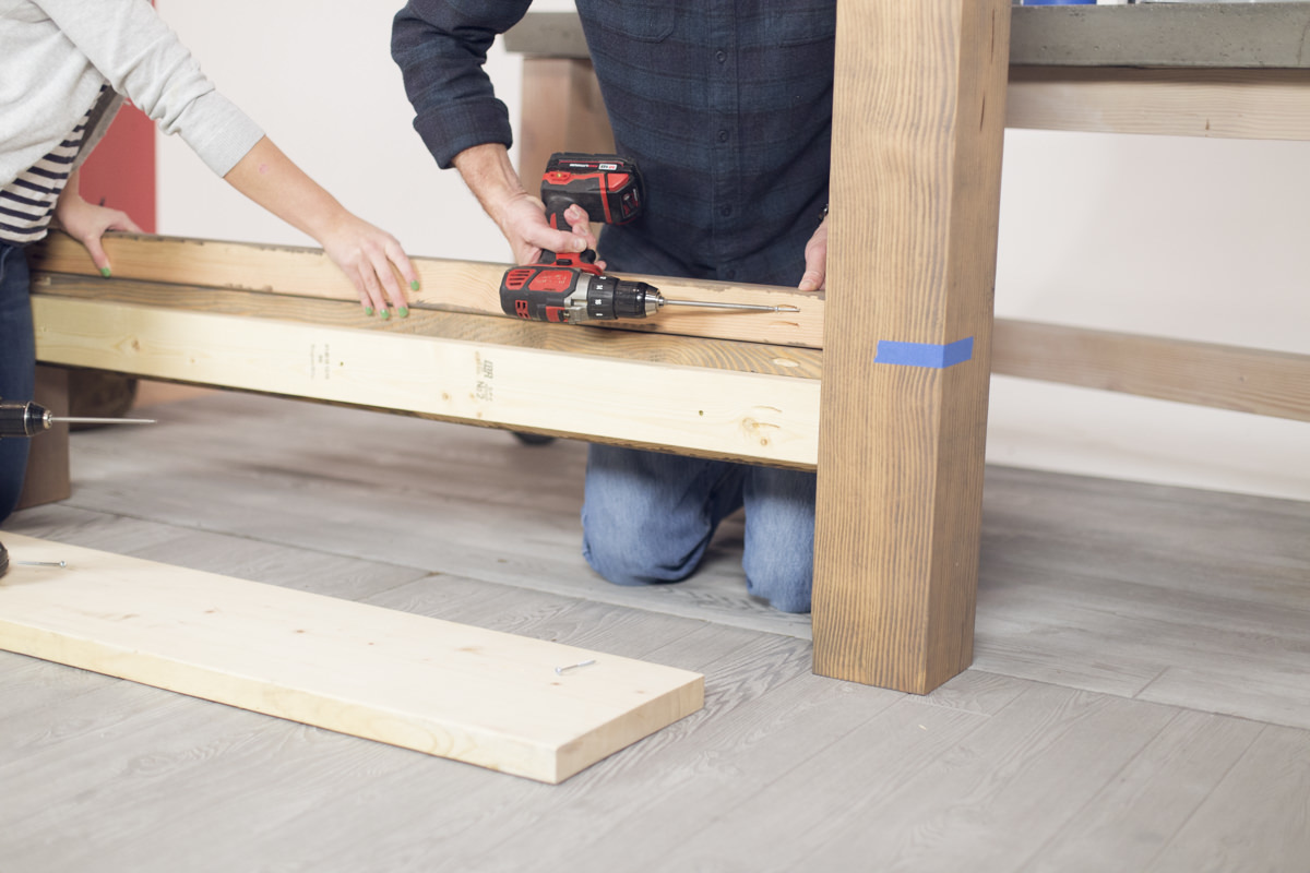 attaching bed frame support