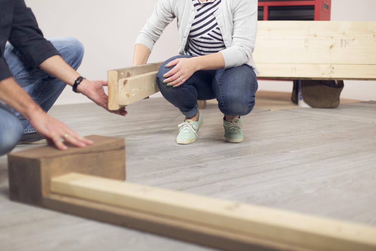 creating bed frame footboard