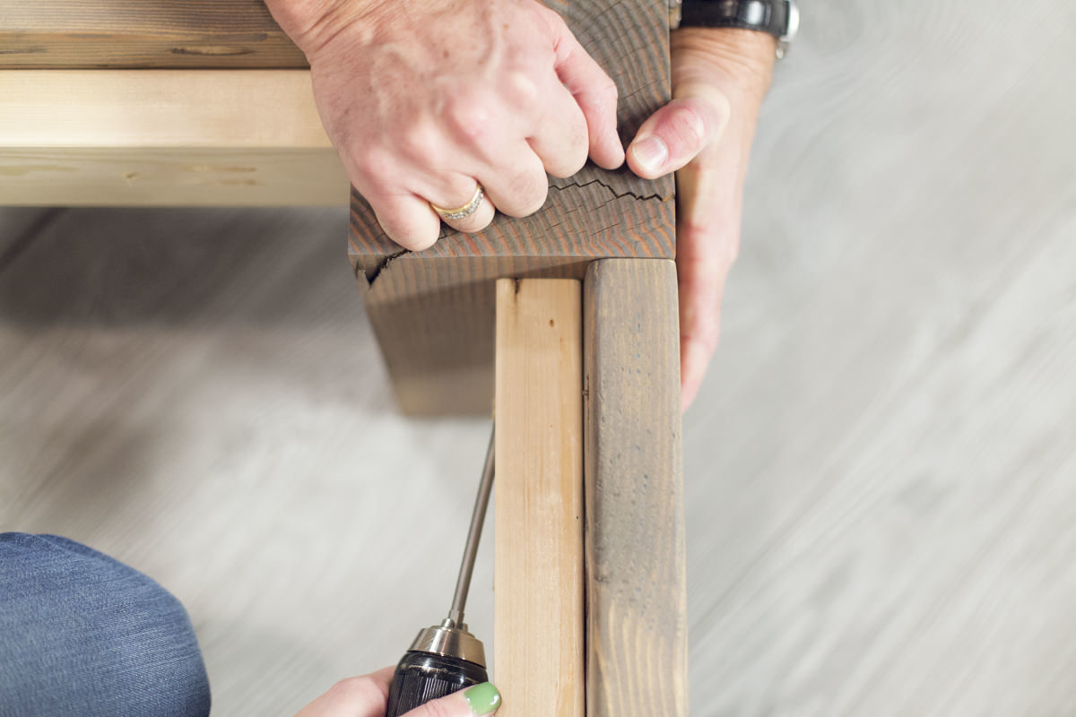 attaching footboard to bed frame douglas fir